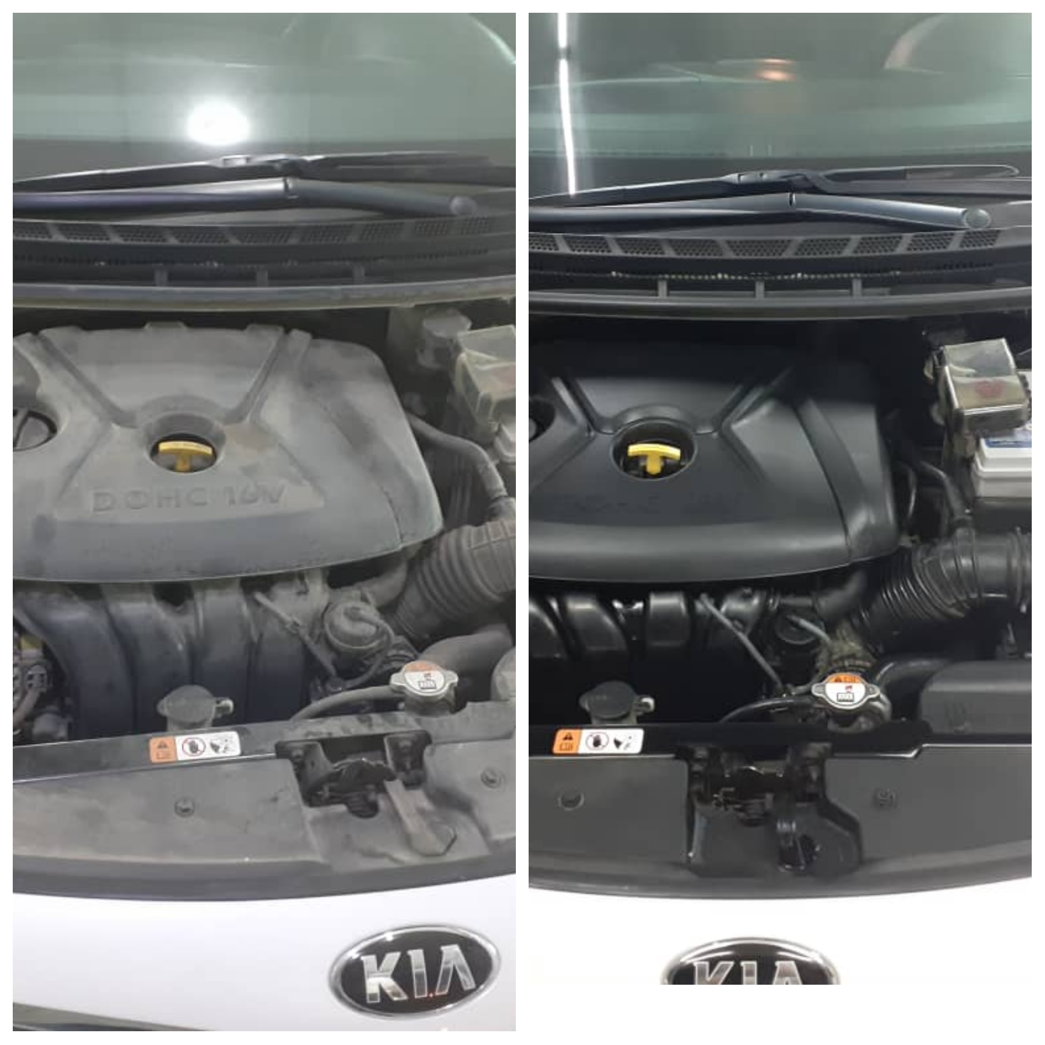موتور شویی کامل خودرو(قبل/بعد)
