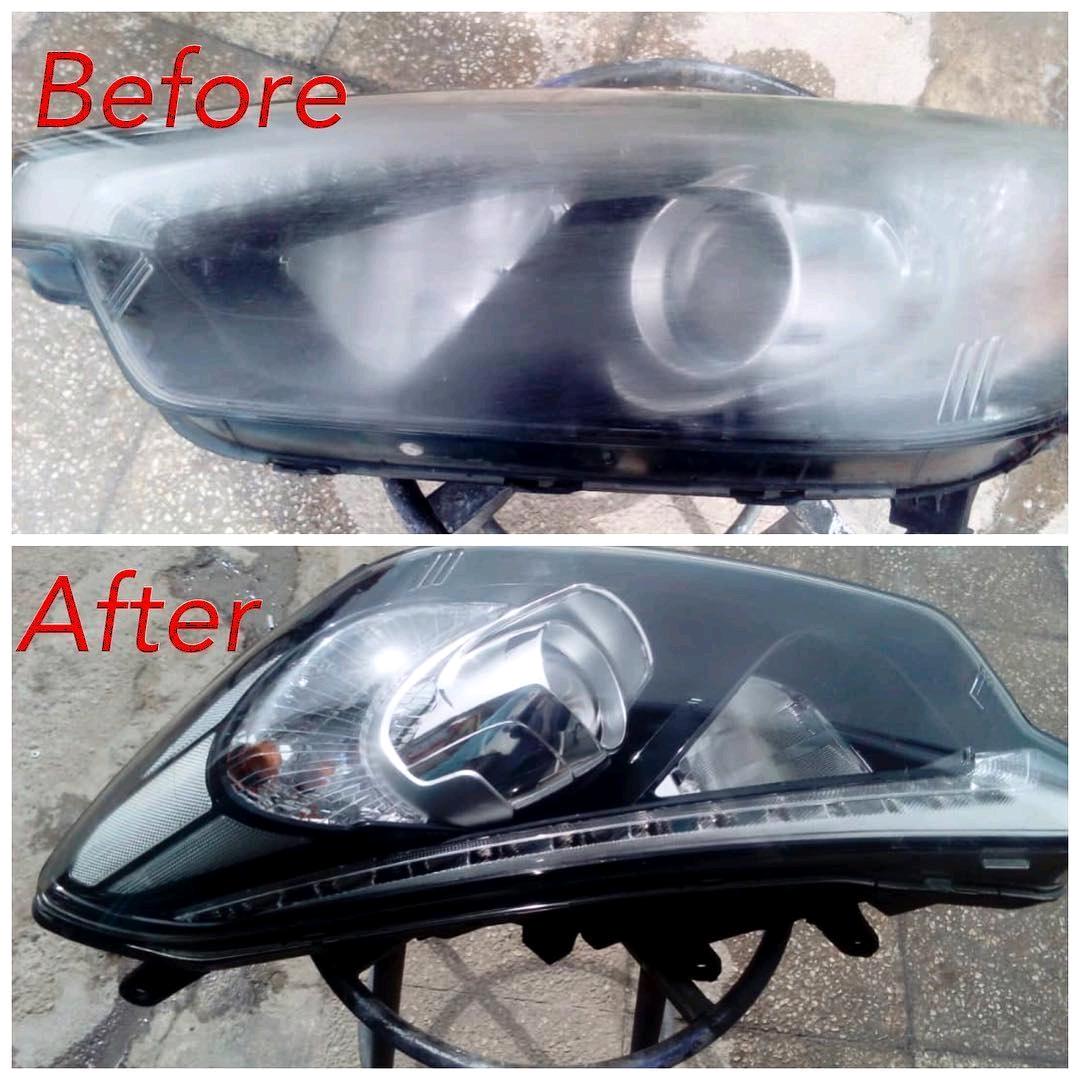 شفاف سازی چراغ جلو خودرو